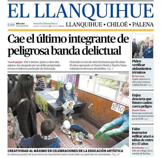 Muestra de Educación Artística destacada por Diario El Llanquihue