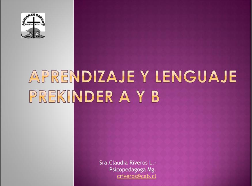 Aprendizaje y Lenguaje