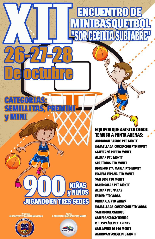 XII Encuentro de Minibásquetbol