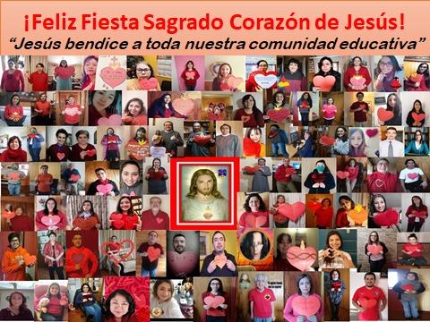 SALUDO DEL PERSONAL CAB A TODOS LOS ESTUDIANTES Y FAMILIAS EN EL DIA DEL SAGRADO CORAZON