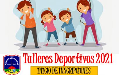 INICIO INSCRIPCION TALERES EXTRAESCOLARES DEPORTIVOS 2021