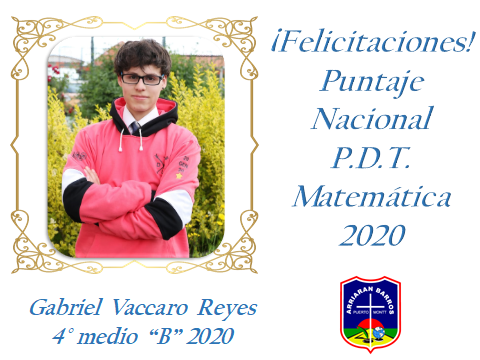 FELICITACIONES POR PUNTAJES PDT 2020