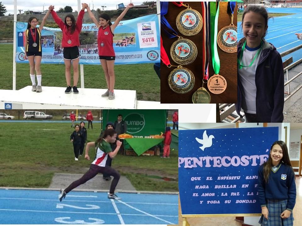 Constanza Haeger del 7° Básico A: Una prometedora atleta de nuestro Colegio