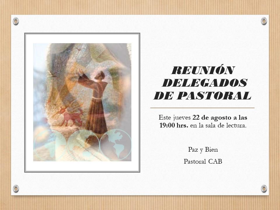 REUNION DELEGADOS DE PASTORAL
