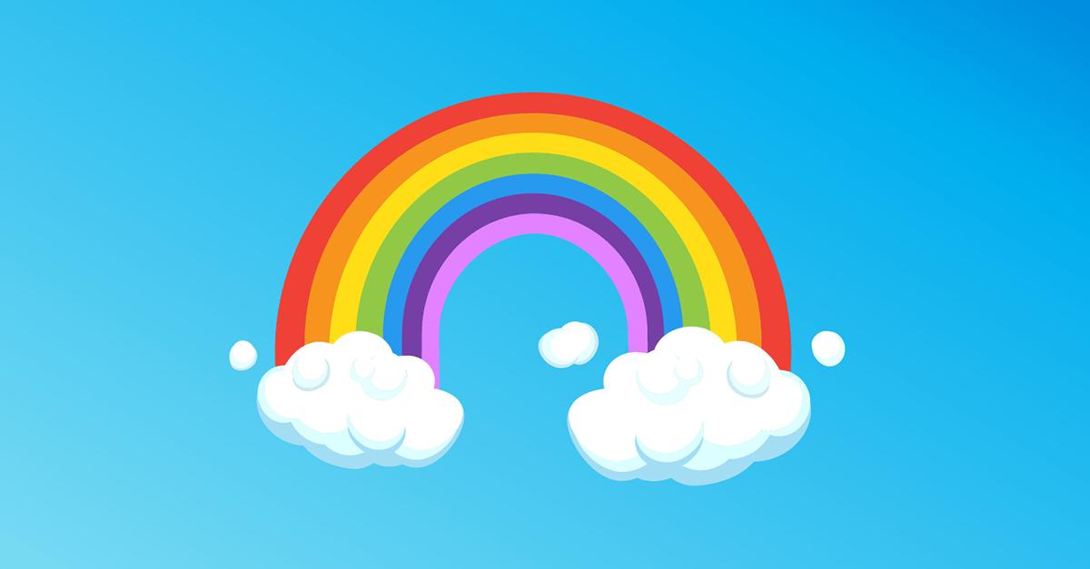 Aprende los colores con un arcoiris
