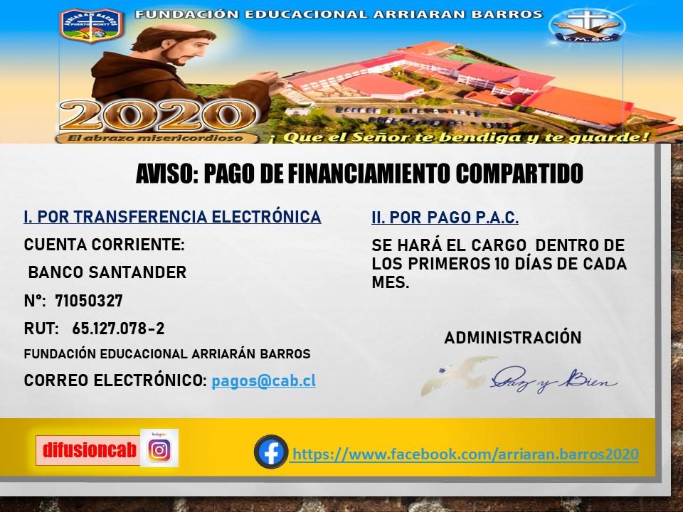 PAGO DE FINANCIAMIENTO COMPARTIDO