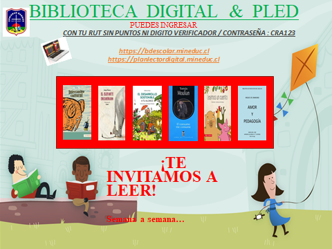 BIBLIOTECA DIGITAL: TE INVITAMOS A LEER…
