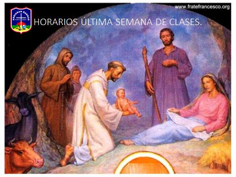 HORARIOS ÚLTIMA SEMANA DE CLASES