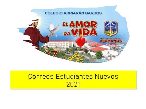 CORREOS ALUMNOS NUEVOS CAB 2021