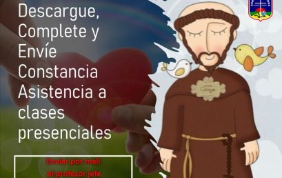 CONSTANCIA DE ASISTENCIA A CLASES PRESENCIALES