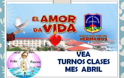 TURNOS CLASES HIBRIDAS ABRIL