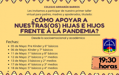 TALLER VIRTUAL PARA PADRES, MADRES Y APODERADOS