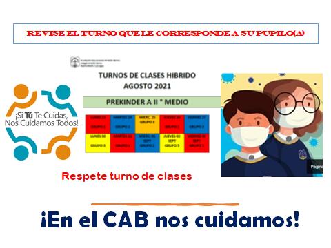 REVISE TURNOS DE CLASES HIBRIDAS