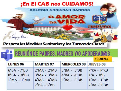 REUNION DE PADRES, MADRES Y/O APODERADOS